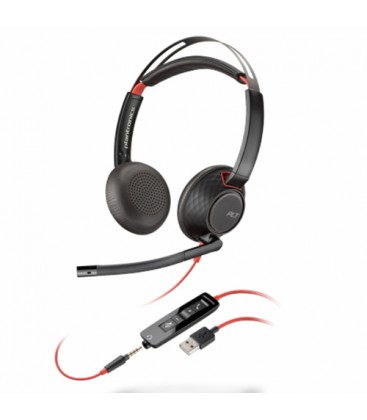 Poly Blackwire 5220 USB-A + 3.5mm Stereo Headset