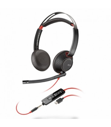 Poly Blackwire 5220 USB-C + 3.5mm Stereo Headset